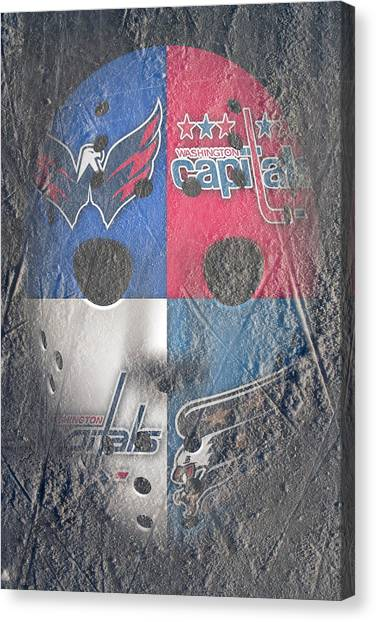 Washington Capitals Canvas Print - Frozen Capitals by Joe Hamilton