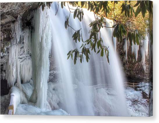 Frozen Dry Falls Canvas Print