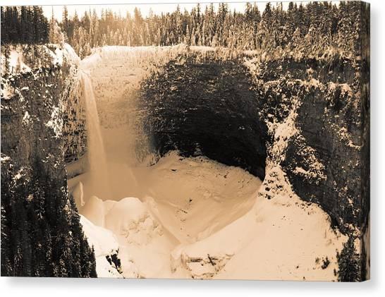 Frozen Falls Canvas Print