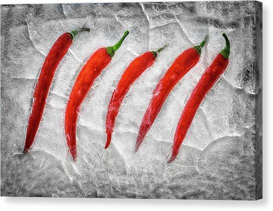 Condiments Canvas Print - Frozen Fire by Secundino Losada