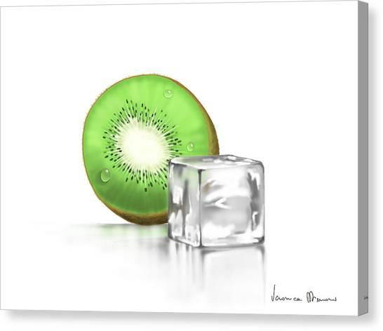 Kiwis Canvas Print - Frozen Fruit by Veronica Minozzi