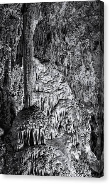 Carlsbad Caverns Canvas Print - Frozen In Time by Melany Sarafis