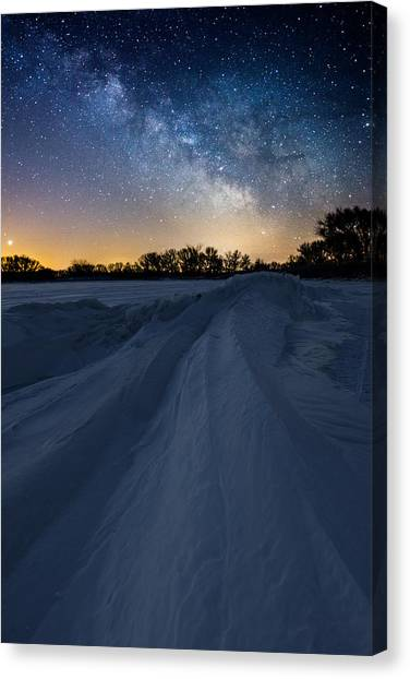 Venus Canvas Print - Frozen Lake Minnewaska Milky Way by Aaron J Groen