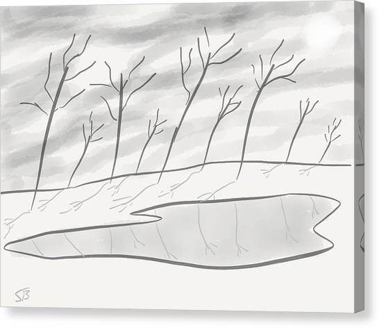 Frozen Landscape Canvas Print