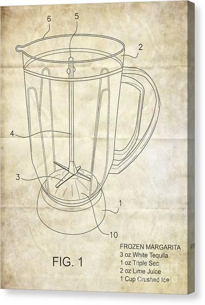 Sec Canvas Print - Frozen Margarita Recipe Patent by Edward Fielding