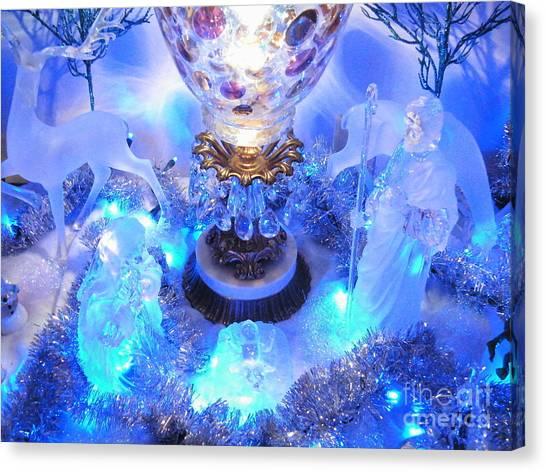 Frozen Nativity 2 Canvas Print