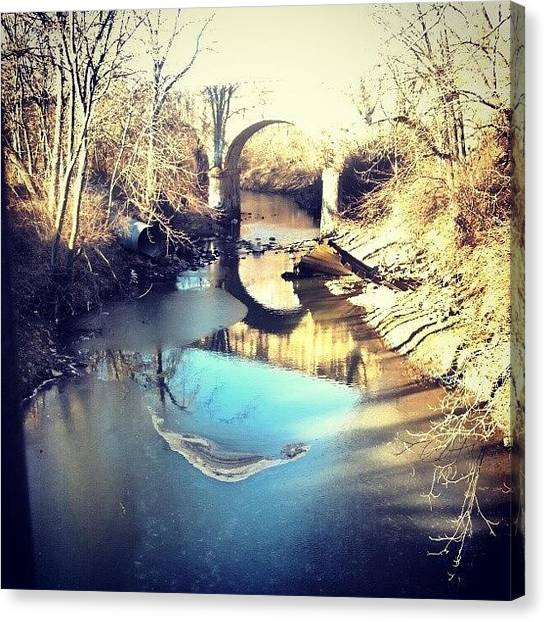 Instamood Canvas Print - Frozen Smile In The Creek by Genevieve Esson