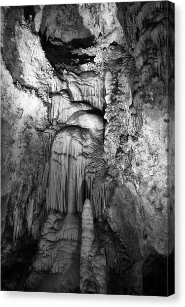 Frozen Waterfall In Carlsbad Caverns Canvas Print