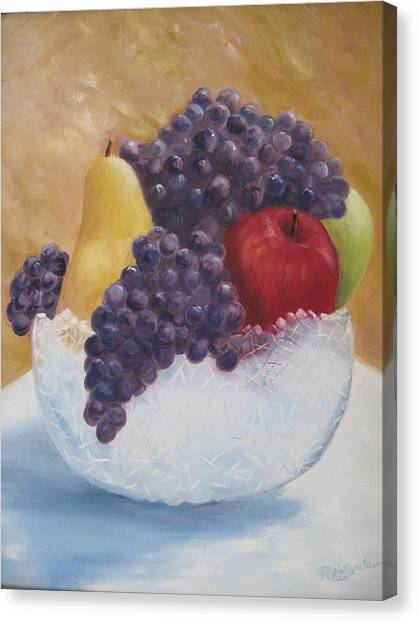 Fruit And Crystal Canvas Print