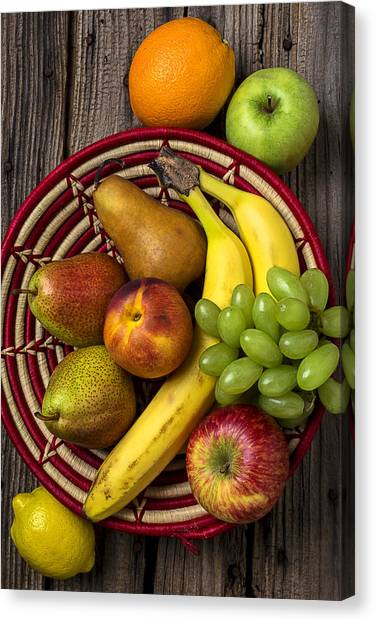Fruit Baskets Canvas Print - Fruit Basket by Garry Gay