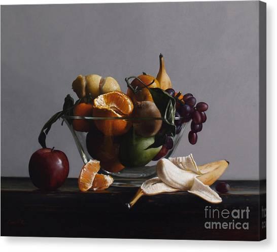 Bananas Canvas Print - Fruit Bowl No.2 by Lawrence Preston