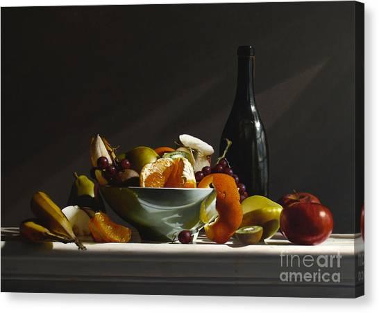 Kiwis Canvas Print - Fruit Bowl No.3 by Lawrence Preston