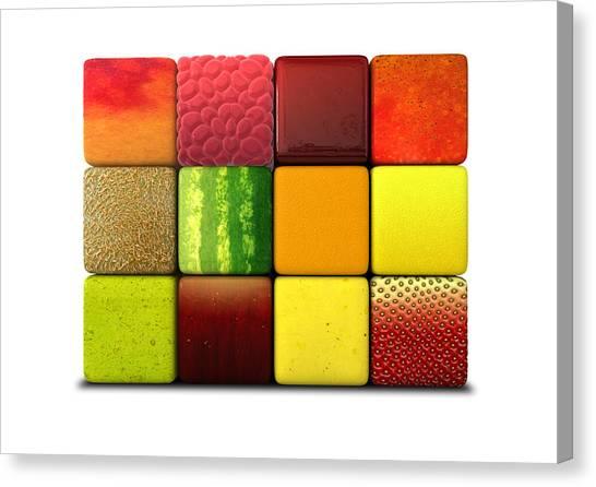 Mangos Canvas Print - Fruit Cubes by Allan Swart