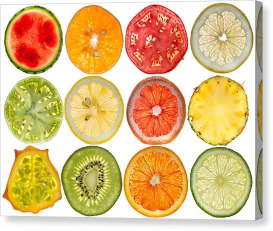 Watermelons Canvas Print - Fruit Market by Steve Gadomski