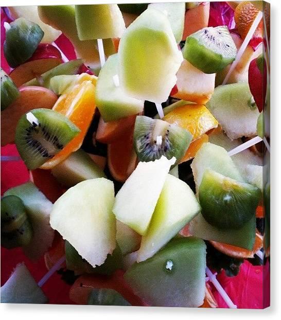 Kiwis Canvas Print - Fruit On Sticks by Camera Hacker