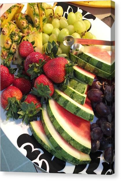 Fruit Plate Canvas Print