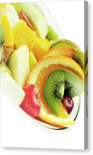 Salad Canvas Print - Fruit Salad by Uk Crown Copyright Courtesy Of Fera/science Photo Library