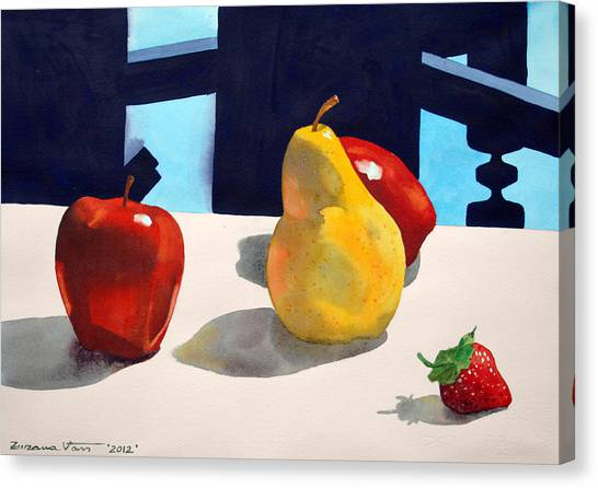 Canvas Print - First Pear by Zuzana Vass