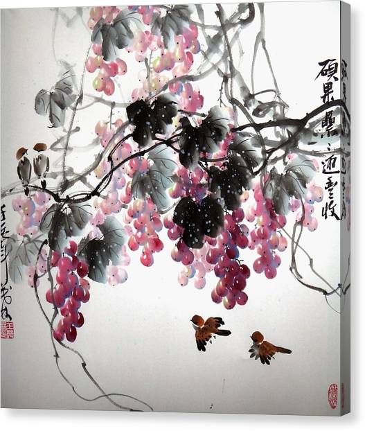 Fruitfull Size 3 Canvas Print by Mao Lin Wang