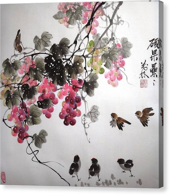 Fruitfull Size 4 Canvas Print by Mao Lin Wang