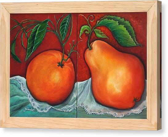 Fruits Pears Canvas Print