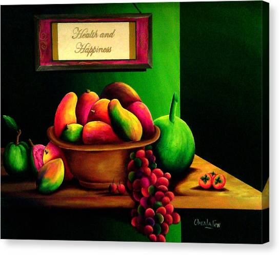 Fruits Still Life Canvas Print