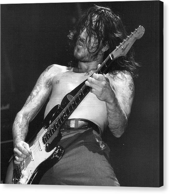 Stratocasters Canvas Print - #frusciante #fender #stratocaster by Antonio Rosato