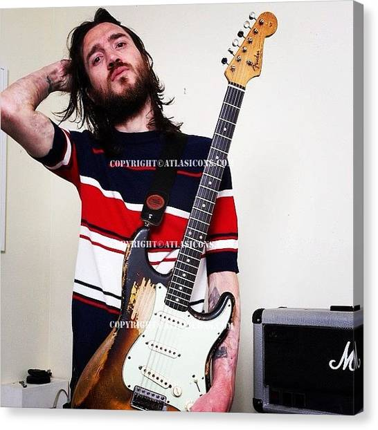 Fleas Canvas Print - #frusciante #redhotchilipeppers by Antonio Rosato