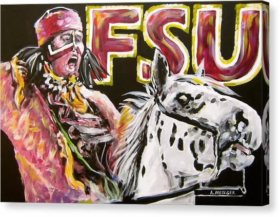 Florida State Fsu Canvas Print - Fsu Mascot by Alan Metzger