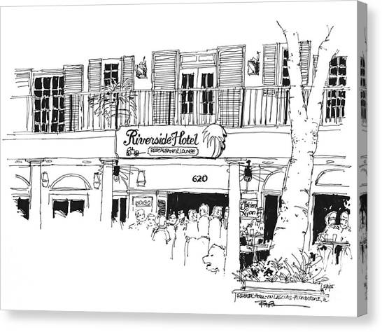 Ft. Lauderdale Riverside Hotel Florida  Canvas Print