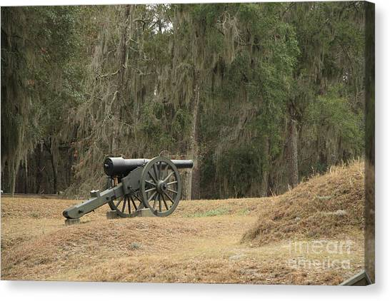Ft. Mcallister Cannon 2 In Color Canvas Print