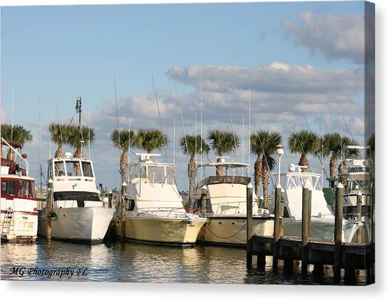 Ft. Pierce Marina Canvas Print