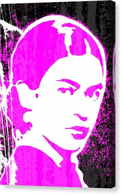 Fuchsia Frida Canvas Print