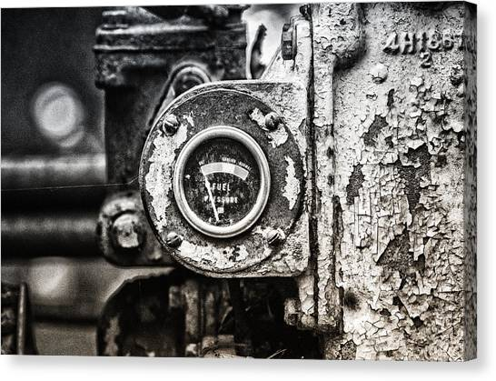 Bulldozers Canvas Print - Fuel Deficient by Susan Capuano