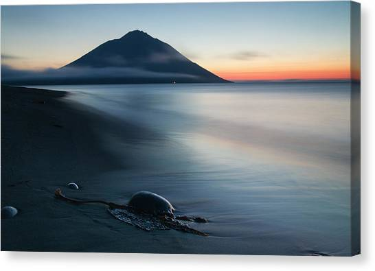 Mountain Sunsets Canvas Print - Fuji Etorofu by Alexey Kharitonov
