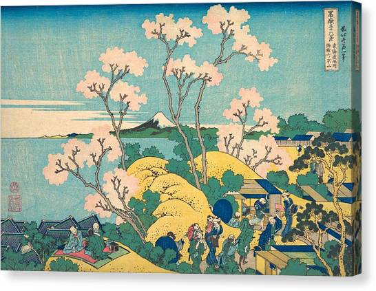The Metropolitan Museum Of Art Canvas Print - Fuji From Gotenyama On The Tokaido At Shinagawa by Katsushika Hokusai