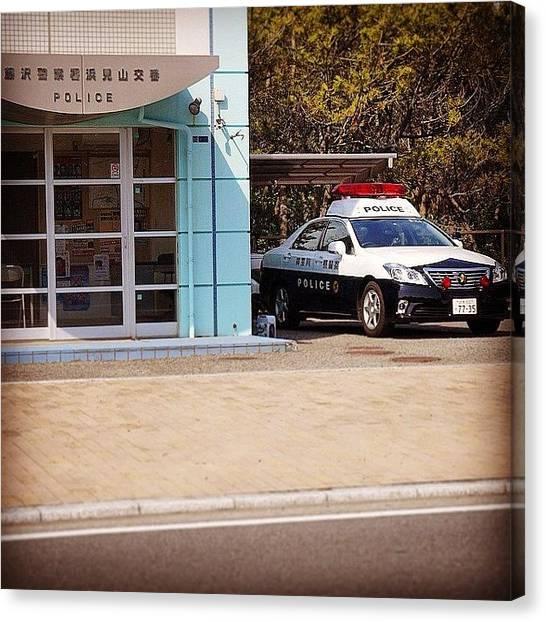Plus Canvas Print - #fujisawa ( #藤沢 ) #police Box / by Kenichi Iwai