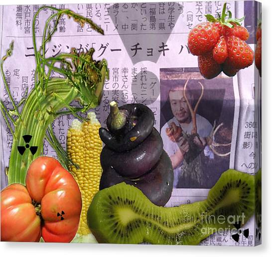 Fukushima Veggies Canvas Print