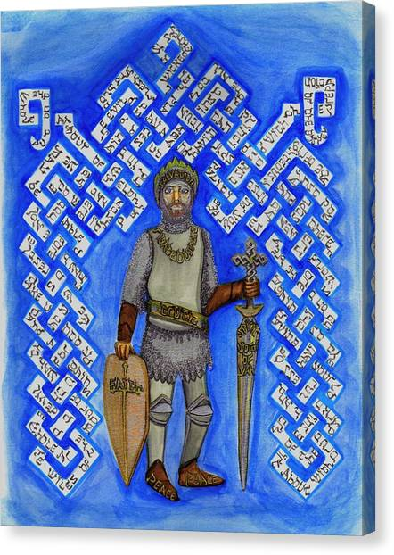 Full Armor Of Yhwh Man Canvas Print