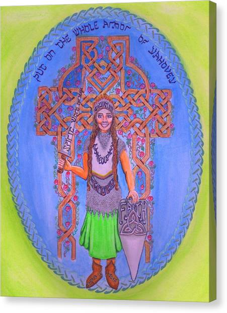 Full Armor Of Yhwh Woman Canvas Print