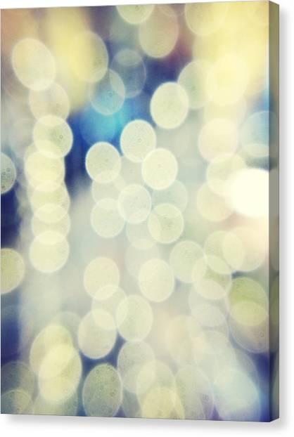 Full Frame Shot Of Defocused Lights Canvas Print by Alex Ortega / Eyeem