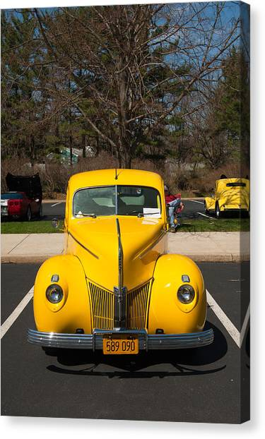 Full Frontal Yellow Canvas Print