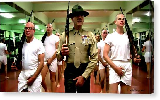 Full Metal Jacket 1 Stanley Kubrick 1979 Canvas Print