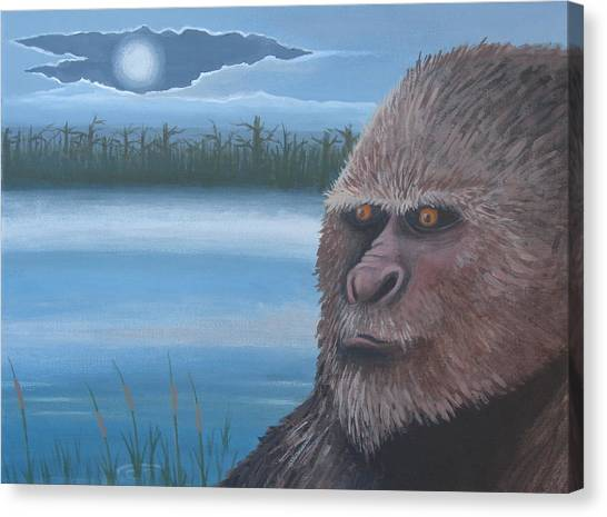Full Moon At Boggy Creek Canvas Print