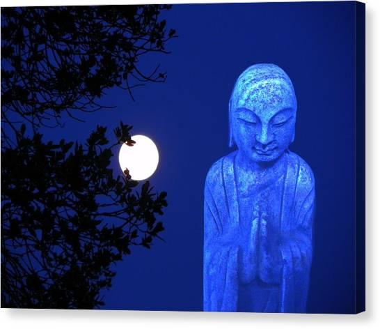 Full Moon Buddha Canvas Print