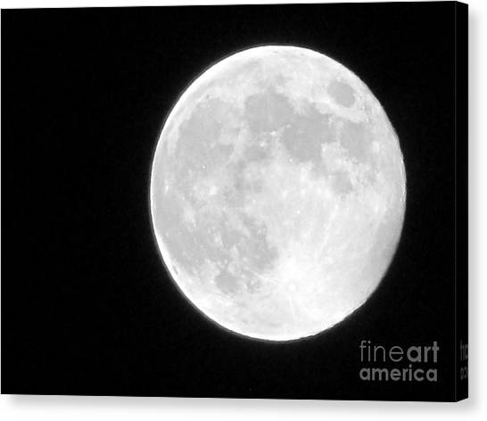Full Moon Canvas Print by Gayle Melges