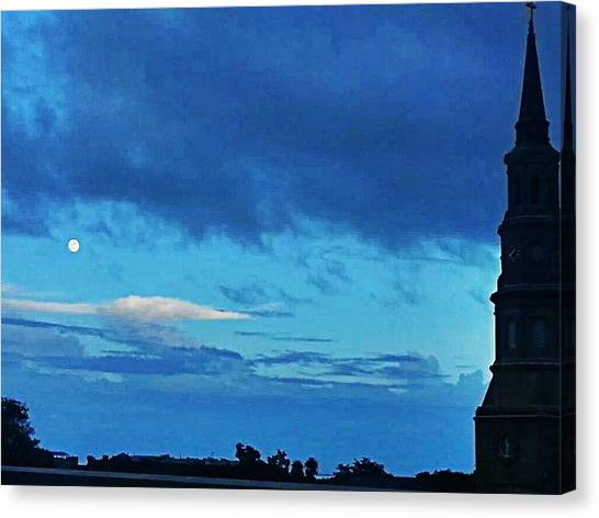 Full Moon In The Holy City Optimized Canvas Print
