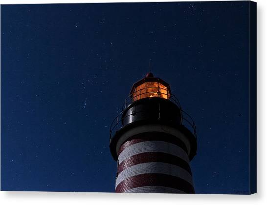 Full Moon On Quoddy Canvas Print