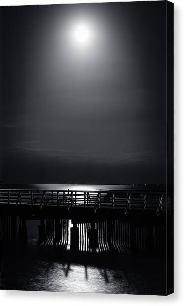 Full Moon Over Bramble Bay Canvas Print