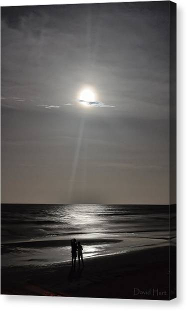 Full Moon Over Daytona Beach Canvas Print